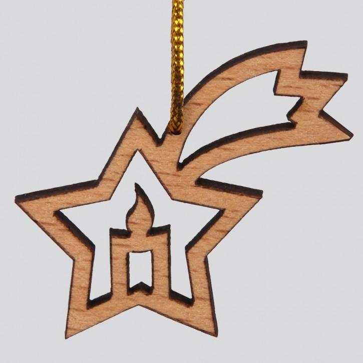Weihnachtsanhänger Kerze/Stern