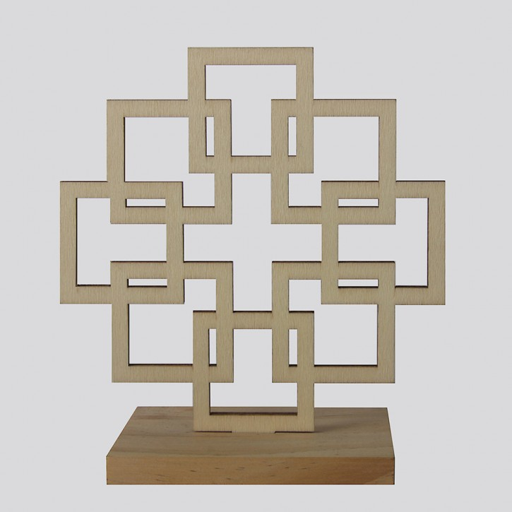 Holz-Facettenkreuz