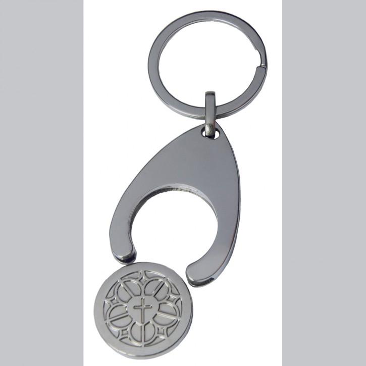 Schlüsselanhänger Lutherrose mit Chip