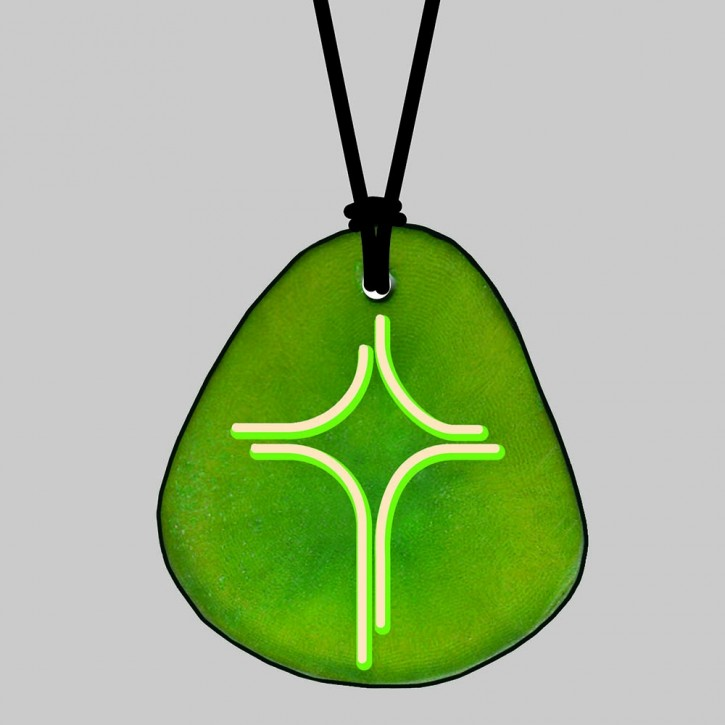 Anhänger Tagua: Kreuz