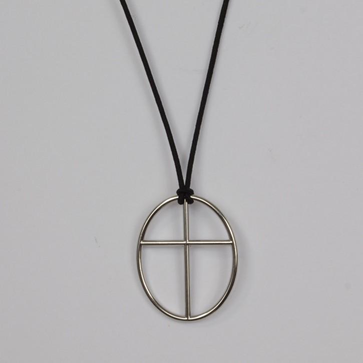Anhänger Kreuz Horizont oval