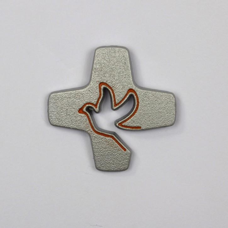 Pin Tauben-Kreuz eisern