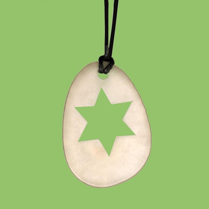 Weihnachtsanhänger Tagua oval