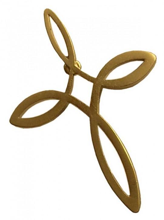 Pin Ichthys- Kreuz (gold)