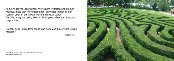 214+ Labyrinth mit Innentext