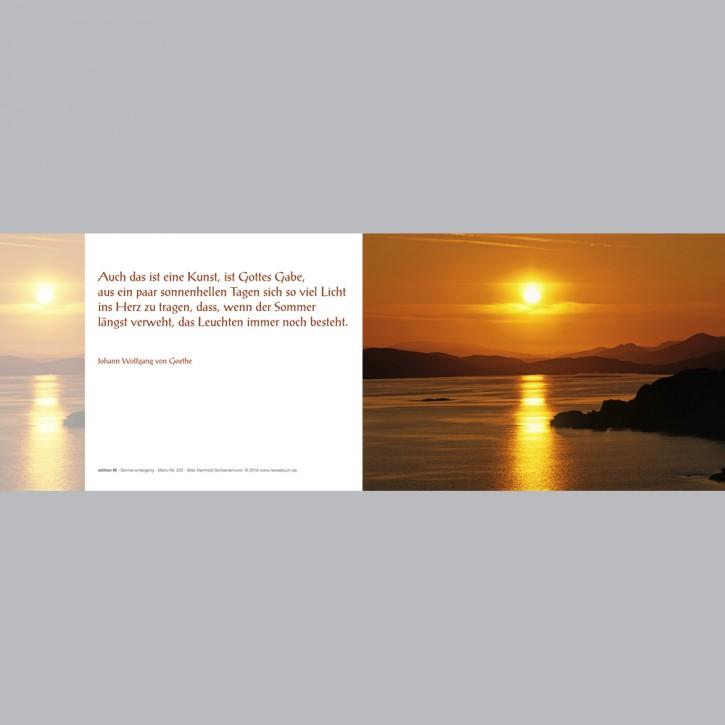 222+ Sonnenuntergang mit Innentext