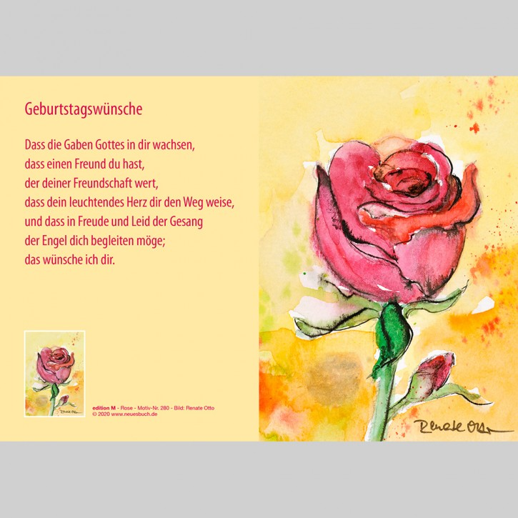280+ Rose mit Innentext