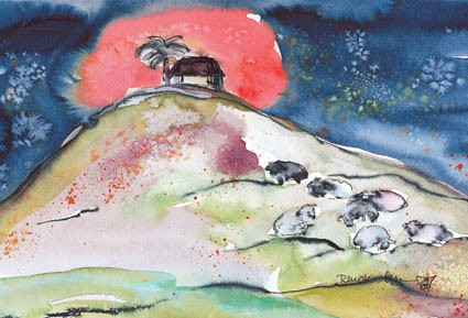 Fensterbild Bethlehem