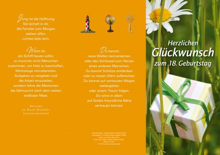 Leporellokarte: Herzlichen Glückwunsch zum 18.Geburtstag