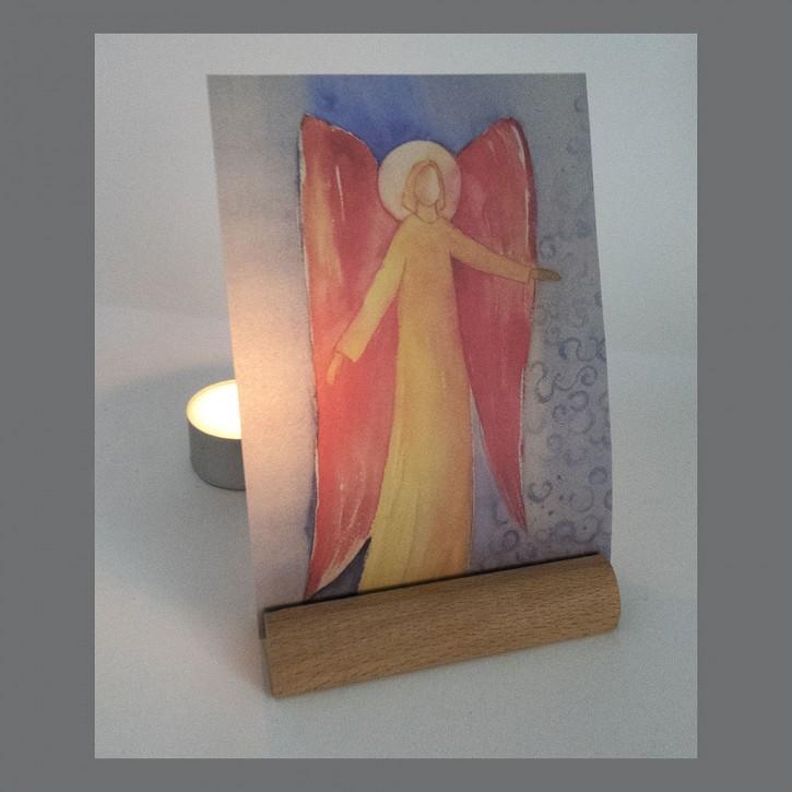 Transparente Postkarte Engel