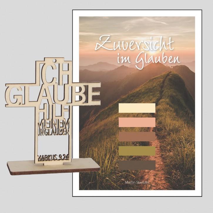 Kombi: Bildband Zuversicht im Glauben + Text-Kreuz JL2020