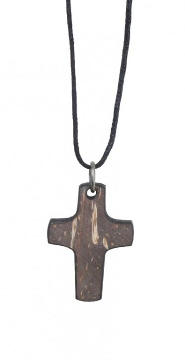 Anhänger: Toscana-Kreuz (Kokosschale)