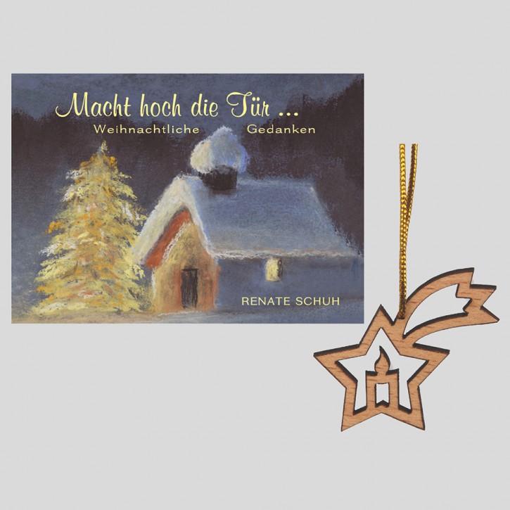 Kombi: Macht hoch die Tür... + Weihnachtsanhänger Kerze/Stern