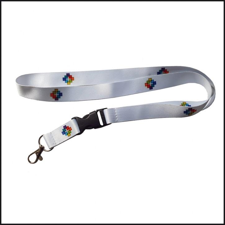 Schlüsselband Facettenkreuz farbig