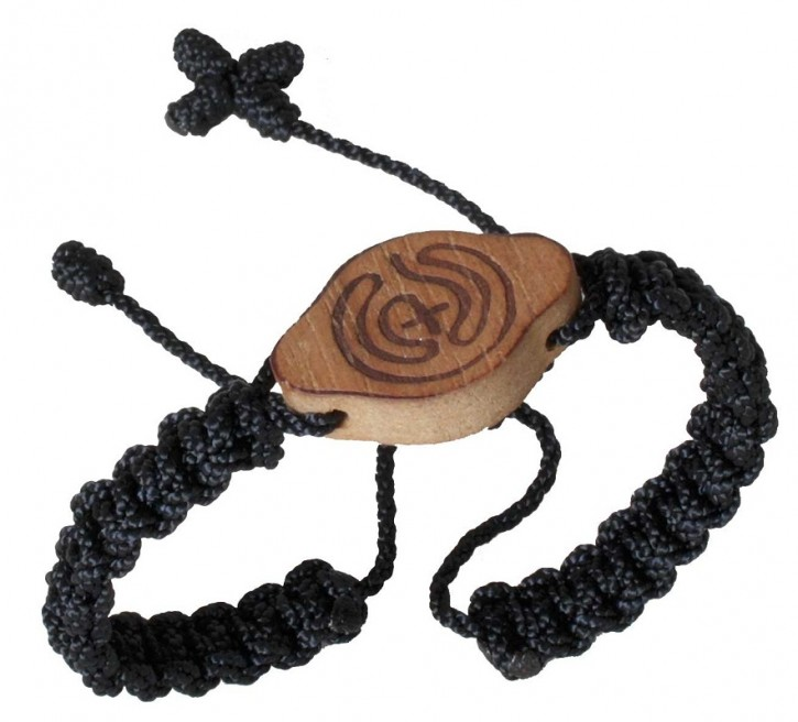 Armband: Labyrinth (schwarz)