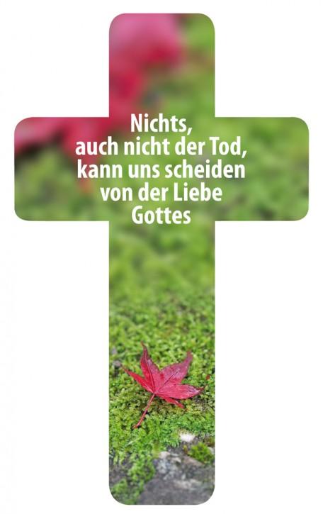 Verteilkreuz Trauer/Blatt