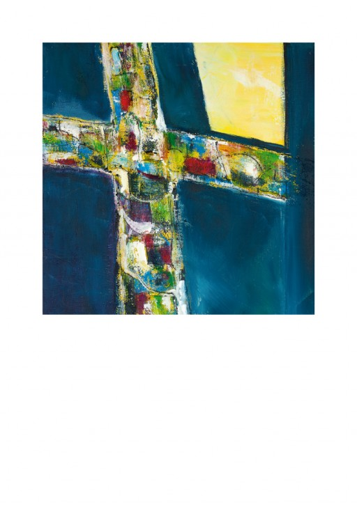 Urkunde/Gedenkblatt  Buntes Kreuz
