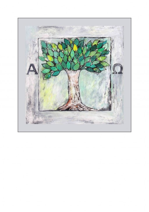 Urkunde/Gedenkblatt  Baum Alpha & Omega