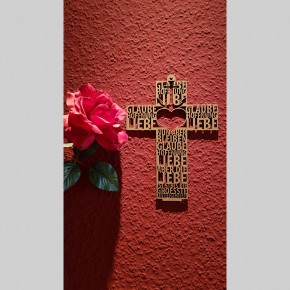 Text-Kreuz Glaube Hoffnung