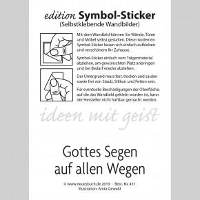 Symbol-Sticker Weg