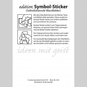 Symbol-Sticker Regenbogen