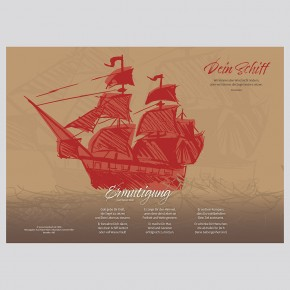Gruß-Aufsteller Schiff