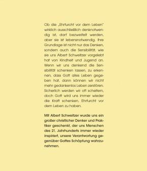 Aus Ehrfurcht vor dem Leben - Albert Schweitzer
