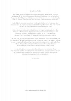 Urkunde/Gedenkblatt Engel mit Taube