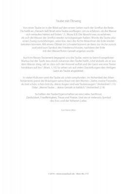 Urkunde/Gedenkblatt  Taube mit Ölzweig