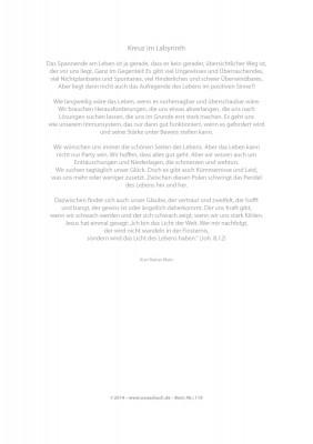 Urkunde/Gedenkblatt  Kreuz im Labyrinth