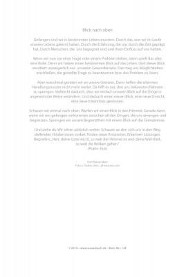 Urkunde/Gedenkblatt  Blick nach oben