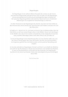 Urkunde/Gedenkblatt  Regenbogen